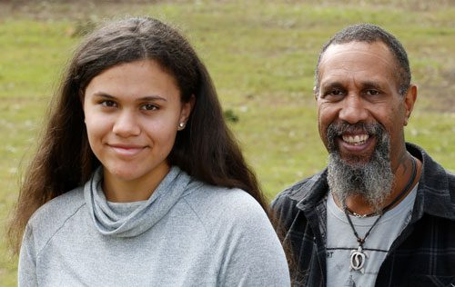 Indigenous man and girl